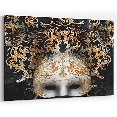 Actorstion Venetian Baroque Mask Canvas Wall Art Modern Home Decor Stretched and Framed Ready to Hang