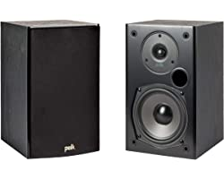Polk Audio T15 100 Watt Home Theater Bookshelf Speakers – Hi-Res Audio with Deep Bass Response | Dolby and DTS Surround | Wal