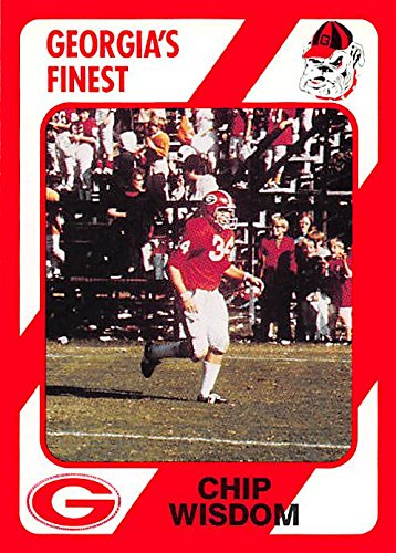 Georgia Chip - Chip Wisdom Football card (Georgia) 1989 Collegiate Collection #133 Linebacker