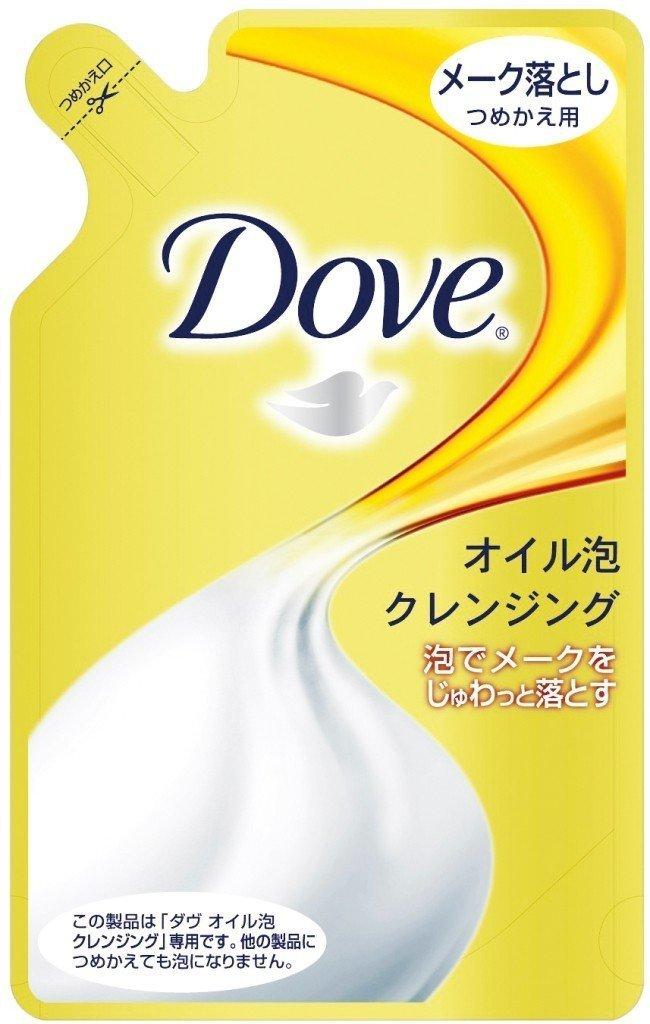 Dove ダヴ オイル泡クレンジングメーク落とし つめかえ用 150ml (5袋)の画像