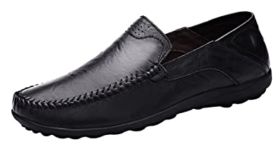 Lapens Mens Casual Flat Loafers Fashion Slip On Driving Shoes  Q9L420CMT