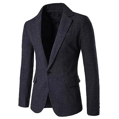 42596b441938 SITENG Mens Herringbone One Button Blazer Jacket Donegal Suits Sport Coat  Men(Black