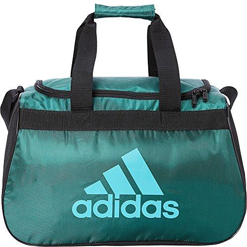 adidas Limited Edition Diablo Small Duffel Gym Bag in Bold Colors - (Forest/Black/Hi-Res Aqua)