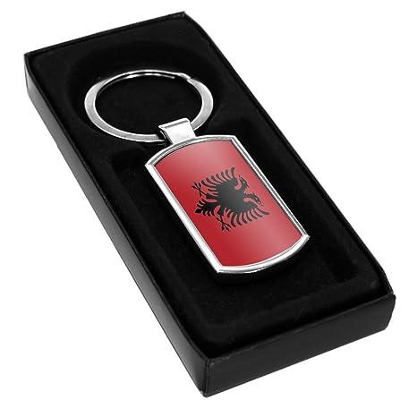godere del prezzo di sconto buona reputazione design innovativo Portachiavi ad anello in metallo, con bandiera dell'Albania ...