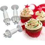 FOUR-C Baking Tools Star Cupcake Cutters Sugarcraft Cutter Kit for Cake Making Color White