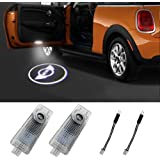 Klinee Mini Cooper Accessories Car Door LED Logo Projector Welcome Lights For Mini Cooper 12V(2-Pack)
