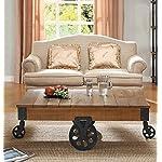 Homelegance Factory Modern Industrial Style Sofa Table, Rustic Brown 7