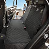 LOUTAN Dog Seat Cover, Bench Car Seat Cover Protector- 100% Waterproof Pet Seat Cover 600D Heavy Duty Scratch Proof Nonslip Durable Soft Pet Back Seat Covers for Cars Trucks and SUVs