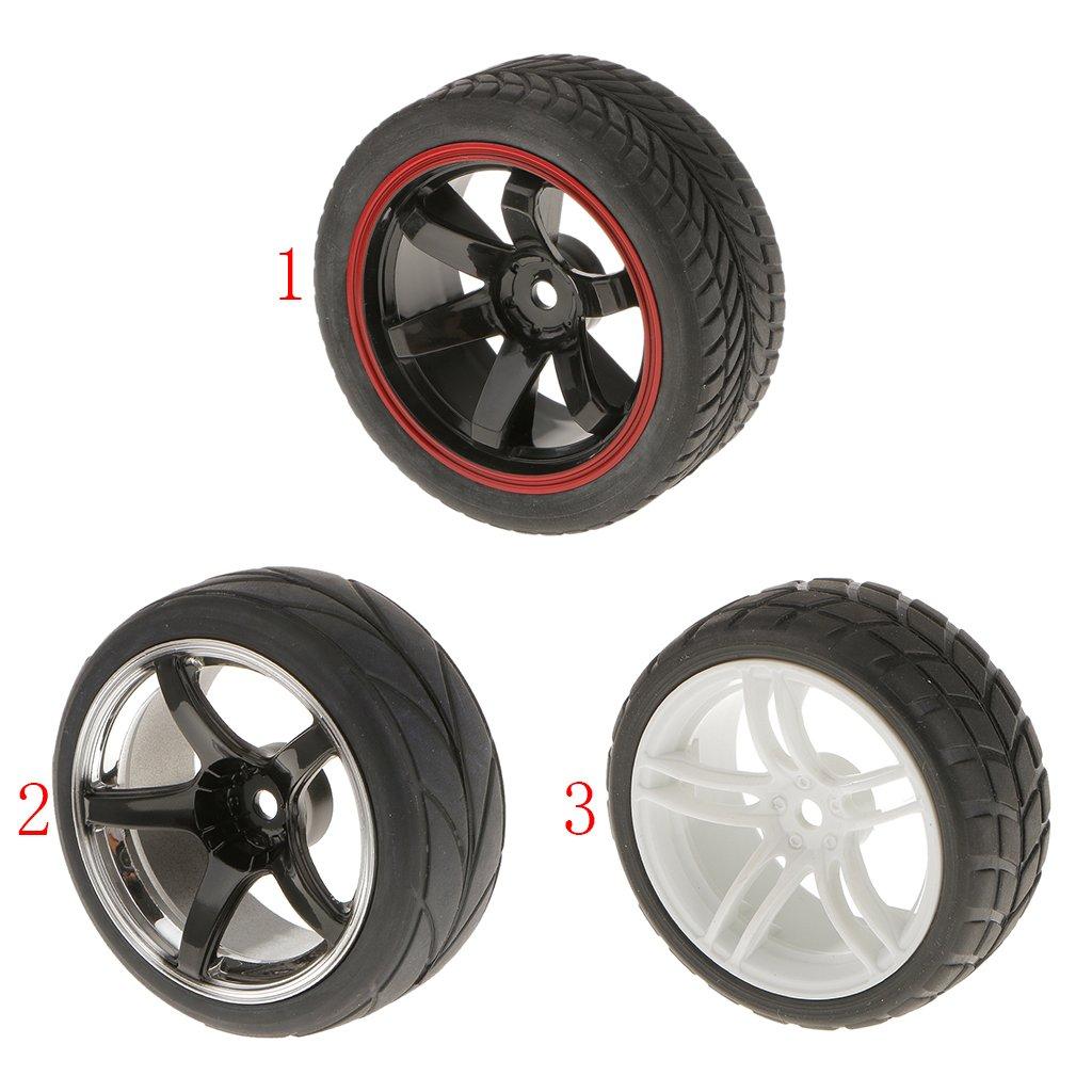 KESOTO 4er-Set Reifen Gummireifen Ersatzreifen Ersatz f/ür 1//10 RC Auto