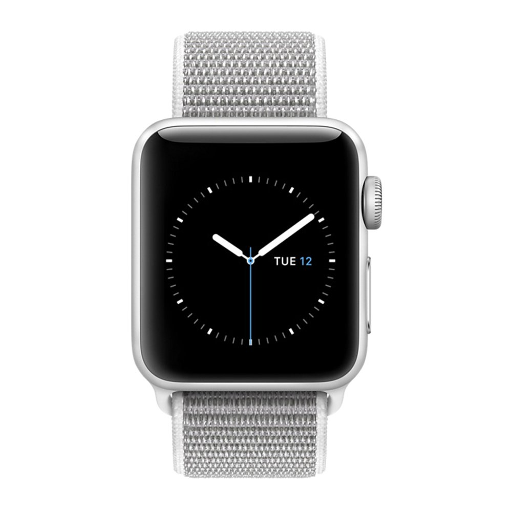 BEA FASHION for Apple Watch Band 42mm Soft Breathable Woven Nylon Replacement Sport Loop Band for Apple Watch Series 3/2/1 Seashell by BEA FASHION (Image #2)