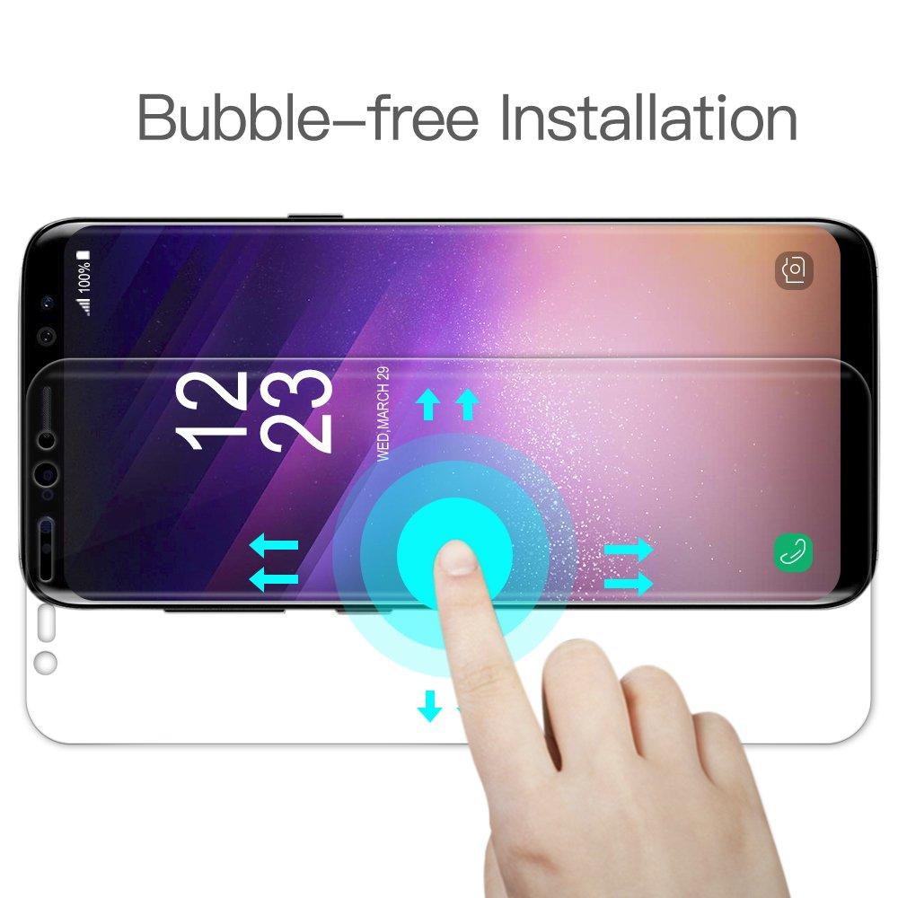 Schutzfolie für Samsung Galaxy S8, [3 Stück] TUCNIPUS Panzerglasfolie -3D Touch Kompatibel, Anti-Öl, Kratzer,Blasen und Fingerabdruck Displayschutzfolie für Samsung Galaxy S8 (5.8 Zoll)