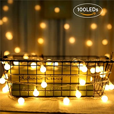 HEDORANCE LED String Lights, 100 LED 48ft 8 Mode Waterproof Fairy String Lights Plug in for Indoor Outdoor Use, Dorm Patio Christmas Party Decorative Lights(Warm White) : Garden & Outdoor