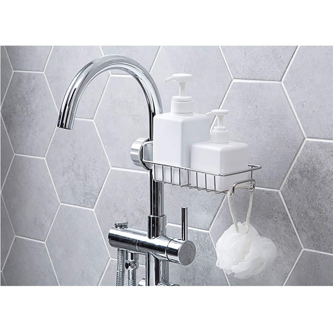 Stainless Steel Faucet Sink Storage Basket Kitchen Sink Shelf Sponge Holder