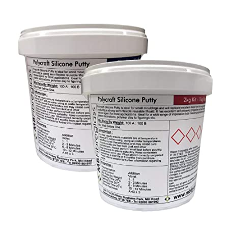 Polycraft Silicone Putty RTV Mould Making Rubber - 2kg Kit: Amazon