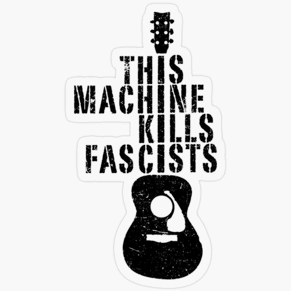 "Lplpol Stickers This Machine Kills Fascists Gift Decorations 5.5"" Vinyl Stickers, Laptop Decal, Water Bottle Sticker"
