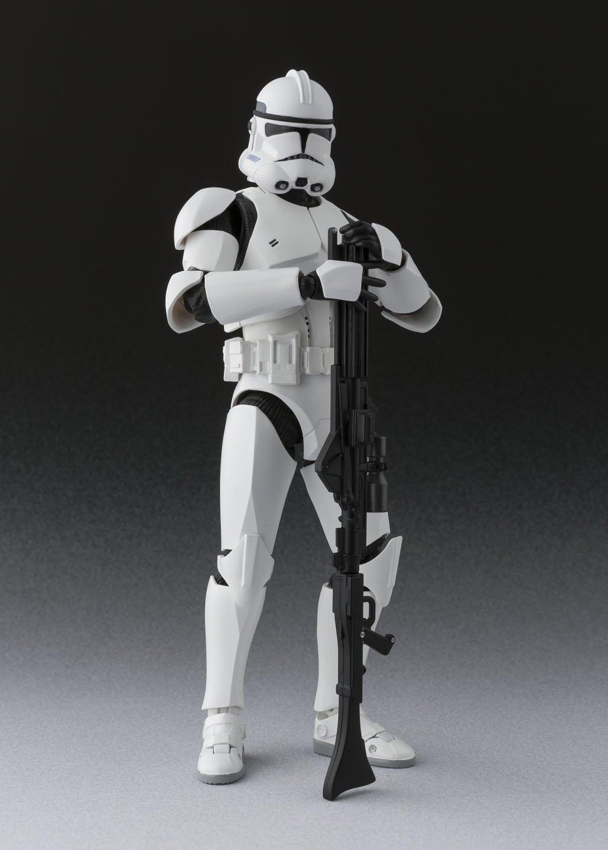 amazon com s h figuarts clone trooper phase ii star wars size