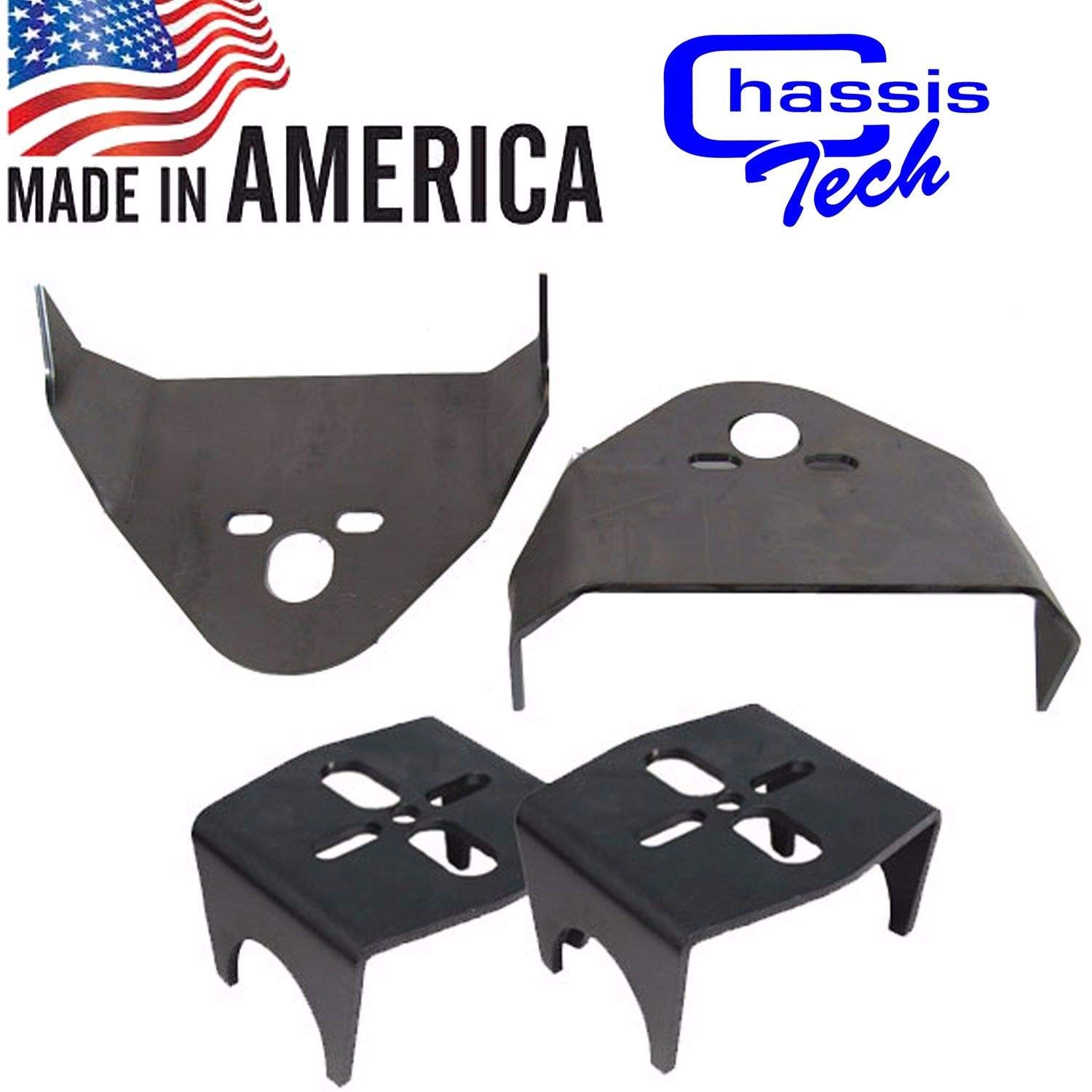 Chassis Tech Weld On Upper & Lower Air Bag Mounting Brackets Mounts Suspension 2.75' Axle Unbranded