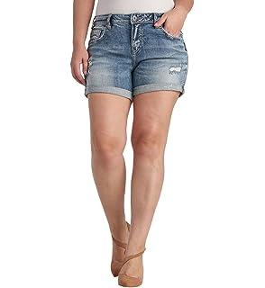 23b305223d5 Amazon.com  Silver Jeans Co. Women s Plus Size Sam Mid Rise ...