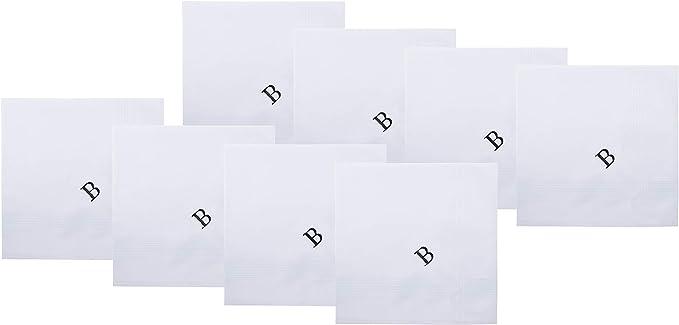 Retreez - Juego de pañuelos de algodón puro con monograma para ...