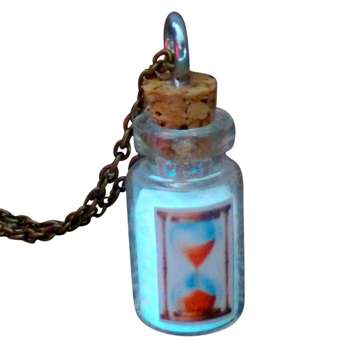 UMBRELLALABORATORY Hourglass Fairy Glow in The Dark Necklace Bottle 5