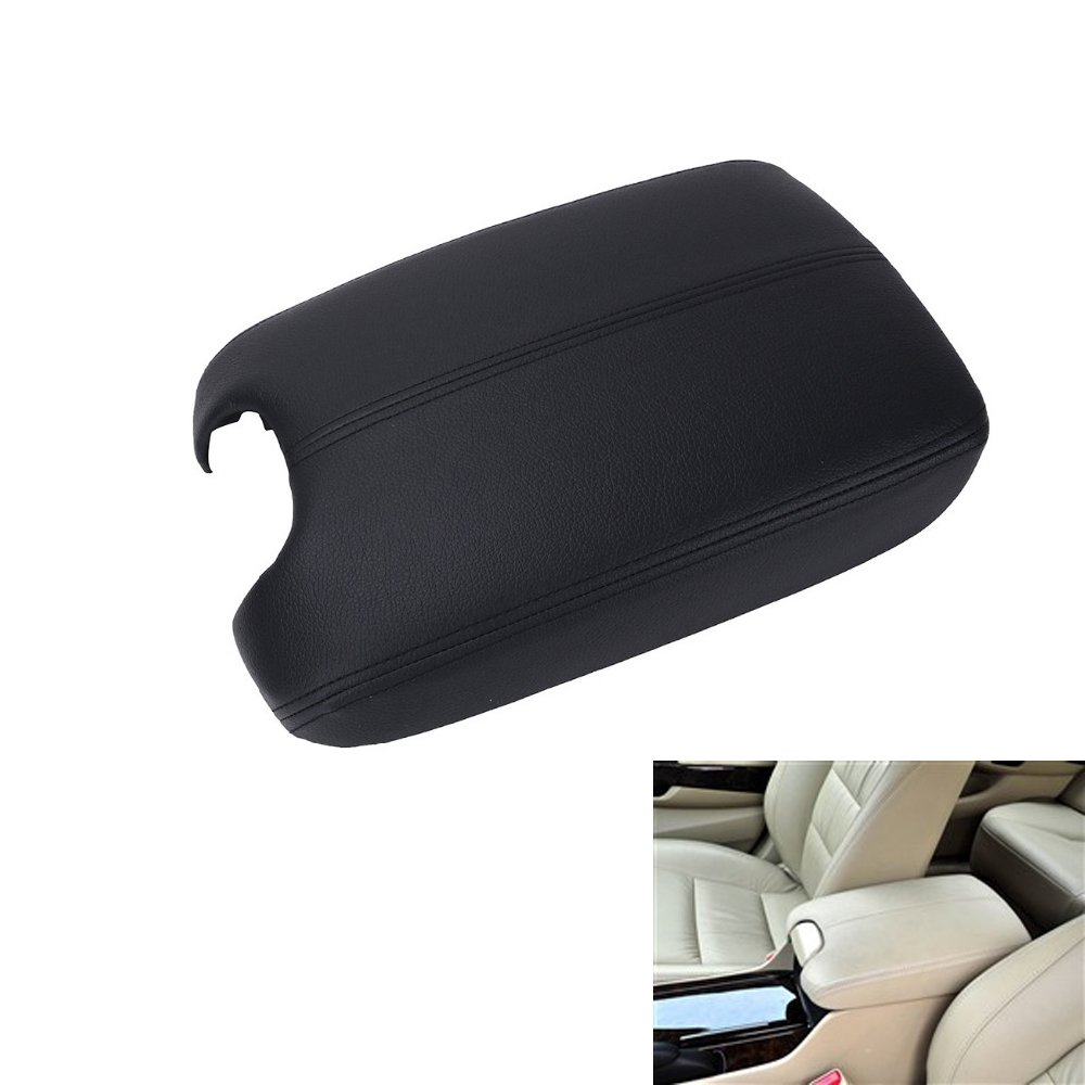 Arotom Armrest Center Console Lid Leather Black Plastic Plate For Honda Accord 2008-2012