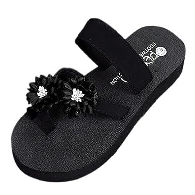 8d3d3105a49 Fheaven Women Summer Beach Slipper Shoes Bath Slippers Flip Flops Shoes Toe  Ring Platform Wedge