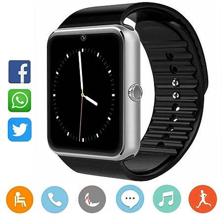 CatShin Smartwatch Android-Reloj Inteligente Reloj Deportivo Ranura de Tarjeta SIM,Podómetro,Monitor de Calorías,Anti-Pérdida,Twitter, Whatsapp- Reloj ...