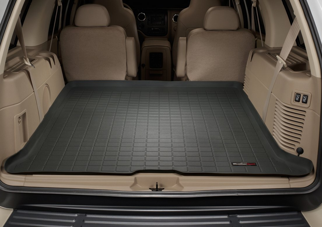 Amazon com weathertech custom fit cargo liners for ford expedition black automotive