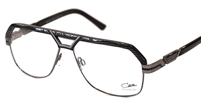 ee14c4d093 Amazon.com  Cazal 7058 eyeglasses color 002 Grey gunmetal  Clothing
