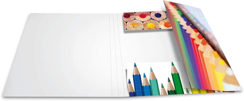 Gummizugmappe HERMA 19223 Sammelmappe DIN A4 Impressions Farben aus stabilem Karton mit bedruckten Innenklappen Eckspanner-Mappe 1 Zeichenmappe f/ür Kinder