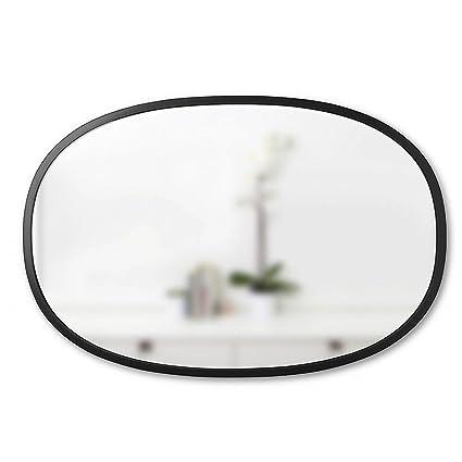 Amazon.com: Umbra Hub Wall Mirror, Black Rubber Frame, Hangs ...