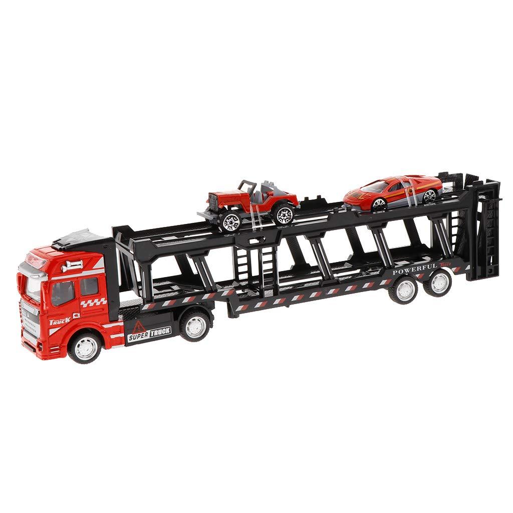 KESOTO Juguete de Camión de Transporte de 2 Nivles con Mini ...
