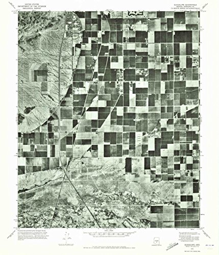 Guadalupe AZ topo map, 1:24000 scale, 7.5 X 7.5 Minute, Historical, 1971, updated 1972, 26.8 x 23 IN - - Desert Palm Hills Springs