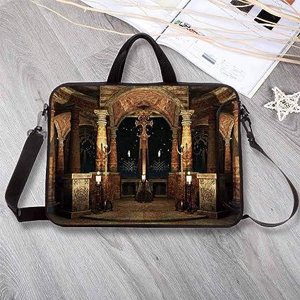 170a89e6a4e8 Amazon.com: Gothic Wear-Resisting Neoprene Laptop Bag,Dark Mystic ...