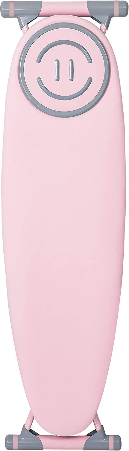 Gooder Home Smiley Series Top Ironing Board, Sturdy and Deluxe Ironing Board (Pink)