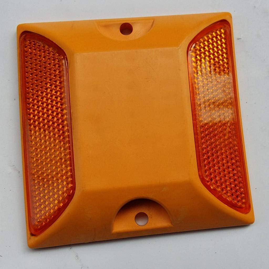Hochwertiger Markierungsnagel mit Reflektoren f/ür Parkplatz Garage Gelb Almencla 15 pcs