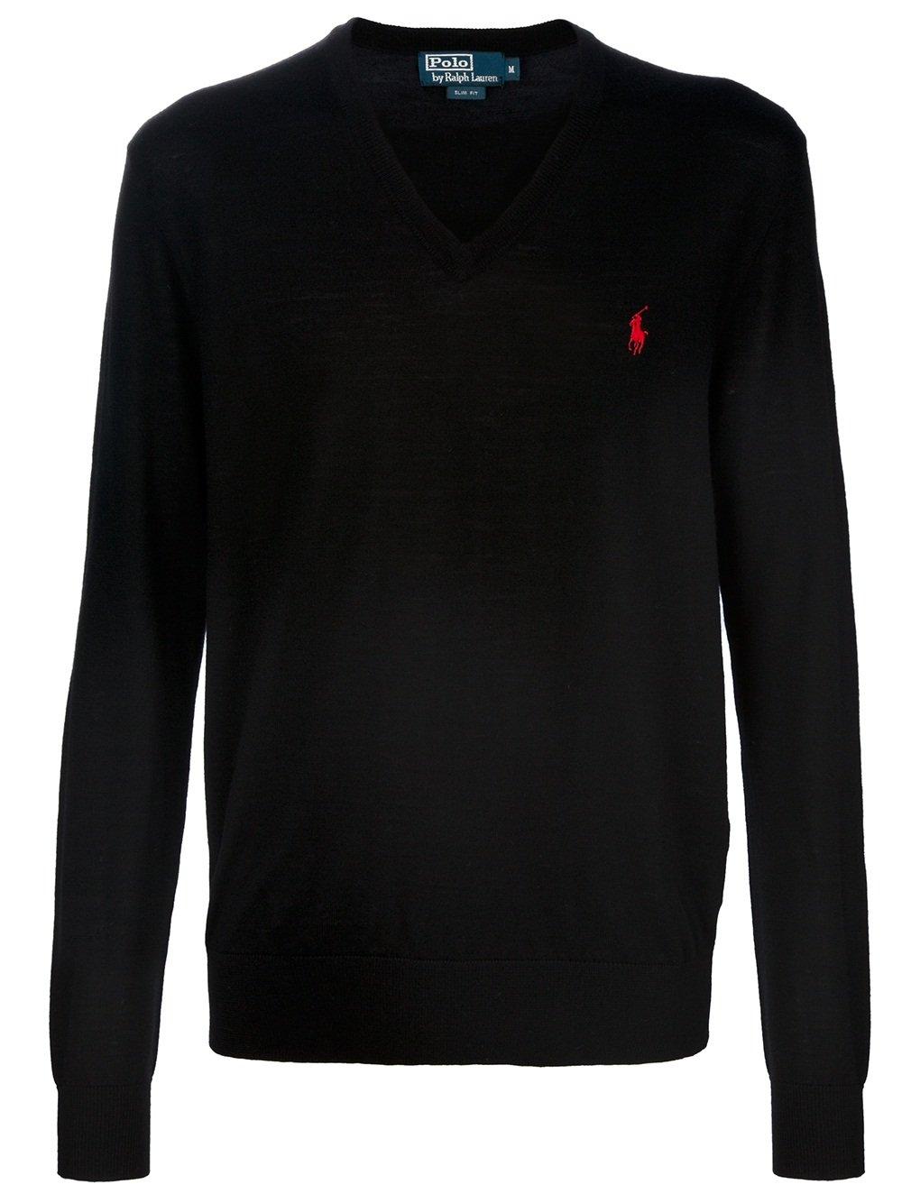POLO U.S ASSN. Men's Sweater (Large) Black