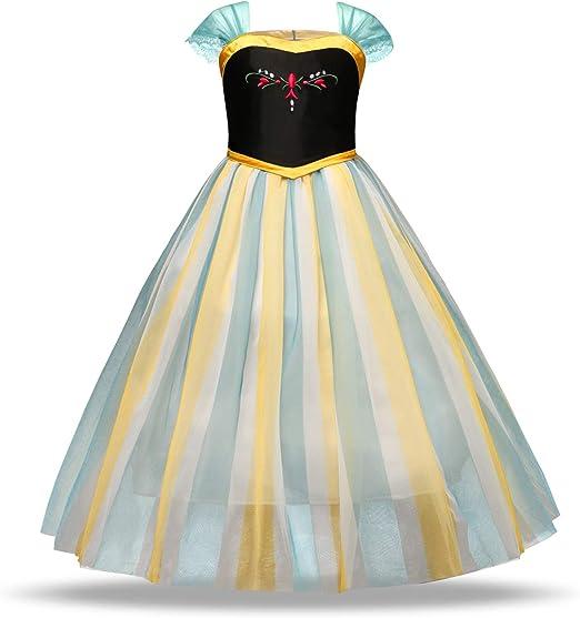 Aegilmc Disfraz Princesa para Niñas Disfraz, Jazmín Vestido ...