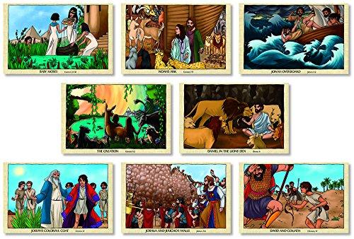 North Star Teacher Resources Old Testament Bible Stories 8 Piece Bulletin Board Set (3128) -