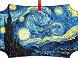 Van Gogh's Starry Night-TM Double-Sided Berlin Aluminum Holiday Hanging Tree Ornament. Made in the USA!