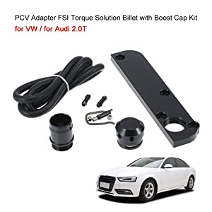 KKmoon PCV Adapter FSI Torque Solution Billet with Boost Cap Kit for VW / for Audi 2.0T