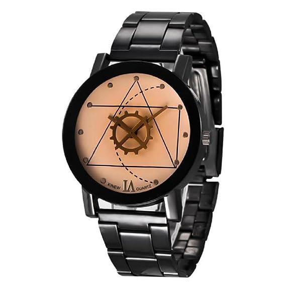 wamolon Fashion xinew mujeres Mens relojes retro de acero inoxidable analógico de cuarzo reloj de pulsera