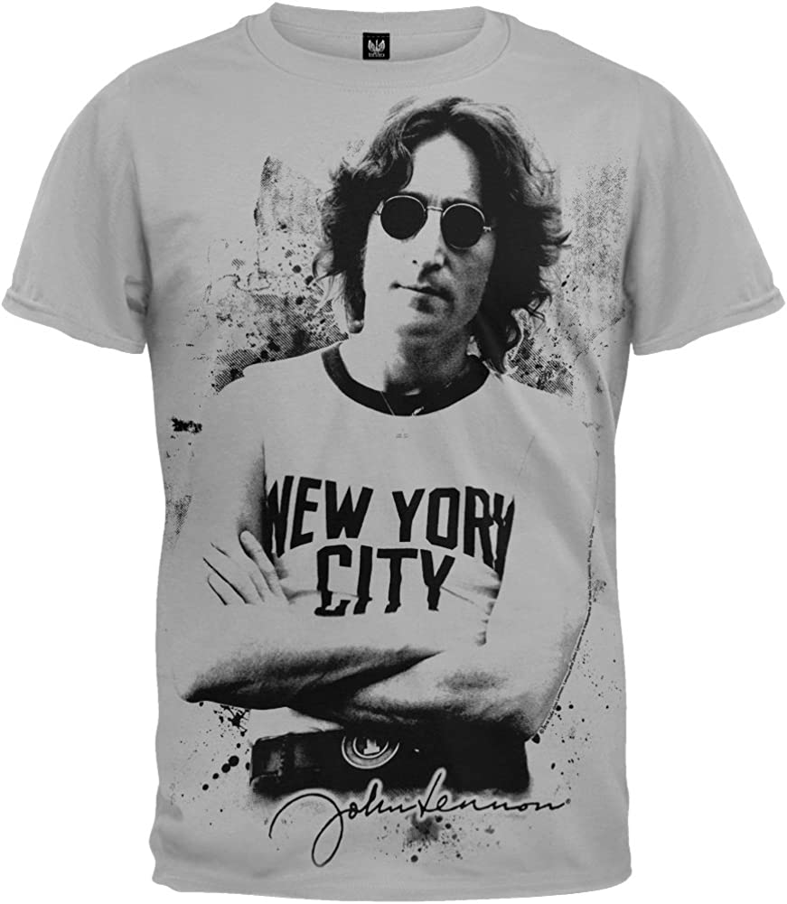 John Lennon New York Men's Grey T-Shirt