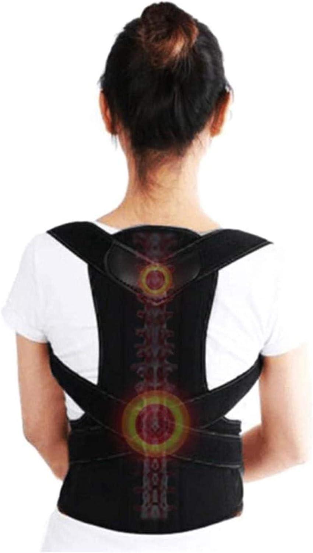 Corrector espinal Hombro Ortopédica cinturón de Nuevo Invisible Jorobado de Ortopedia de la Correa de Alivio del Dolor de la escoliosis Cinturón de Respaldo (Color : Black, Size : X-Large)