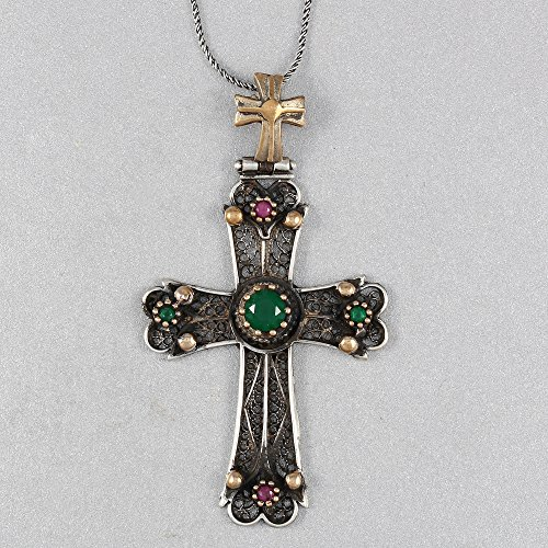 Silver Handmade Holy Cross Pendant Necklace 21