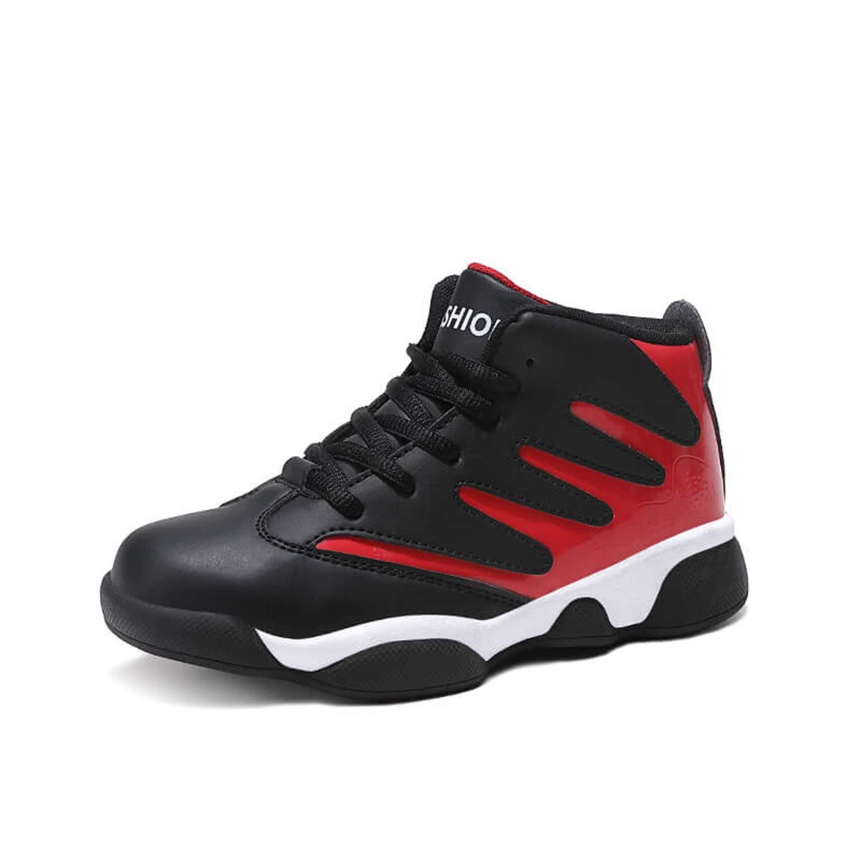 WOWEI Garçon Fille Chaussures de Basket-Ball Haute Anti-Dérapant Résistant à l'usure Chaussures de Sport Enfant Baskets Sneakers