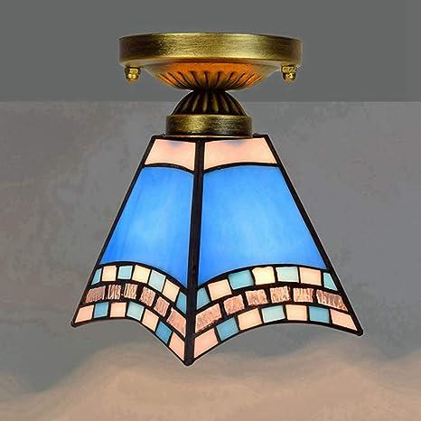 LYEJFF Lámpara de Techo Estilo Tiffany, 6 Pulgadas ...