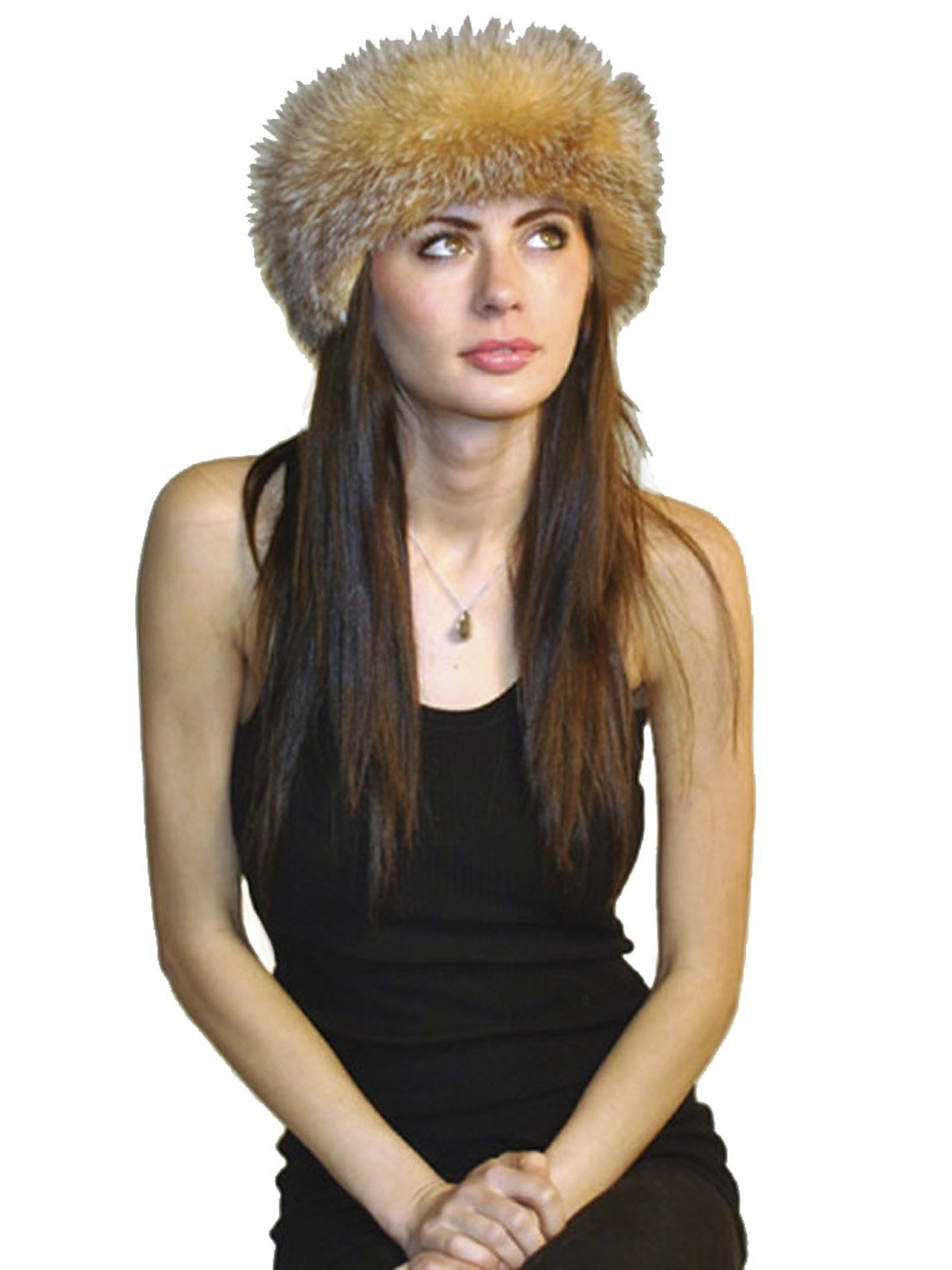SCARVES- FUR-FOX HEADBAND FROM CASHMERE PASHMINA GROUP (CRYSTAL FOX) by Cashmere Pashmina Group