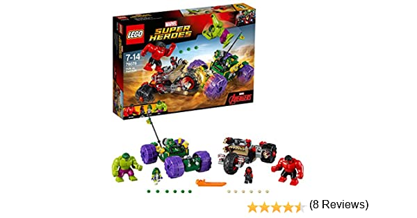 LEGO Super Heroes - Hulk vs Hulk Rojo (76078): Amazon.es ...