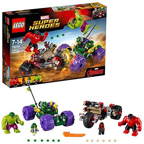 LEGO Super Heroes Hulk vs. Red Hulk 76078 Building Kit (Lego The Hulk)